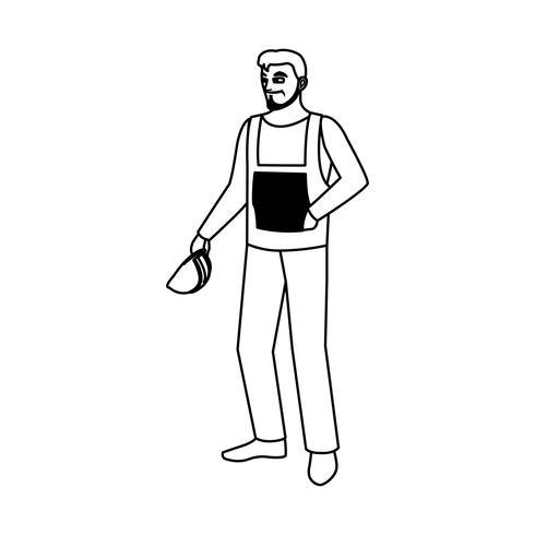 carattere di avatar costruttore costruttore maschio lavoratore