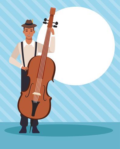 Musiker konstnär tecknad