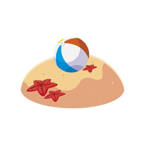plage de sable d'été avec scène de ballon de plage