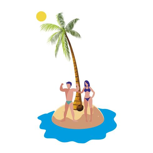 junges Paar am Strand Sommerszene
