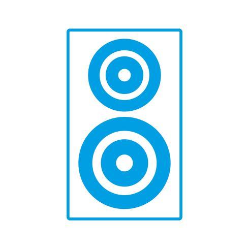 icona dell'altoparlante audio