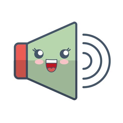 imagem de ícone de alto-falante vetor