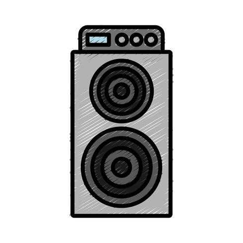 ícone de alto-falante de som