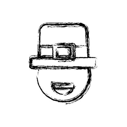 diseño de sombrero irlandés