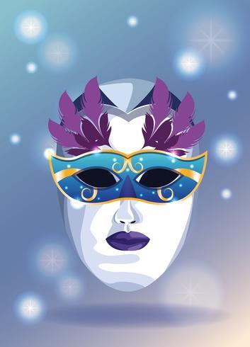 Mascara de carnaval vector