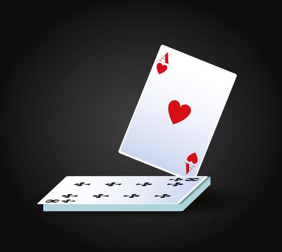 Juego de cartas de poker vector