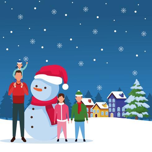 glad jul på vintern