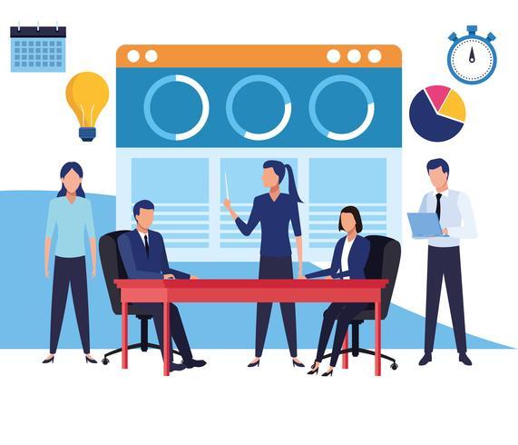 Caricaturas de compañeros de trabajo de negocios vector