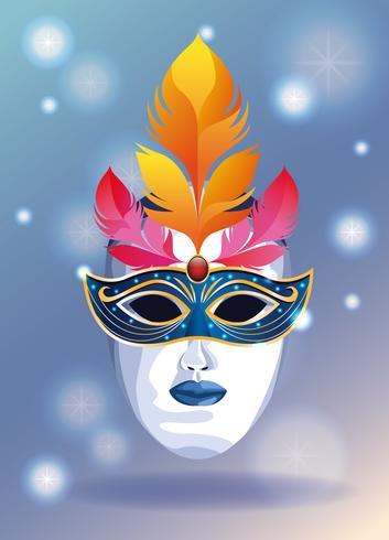 Máscara de carnaval vetor