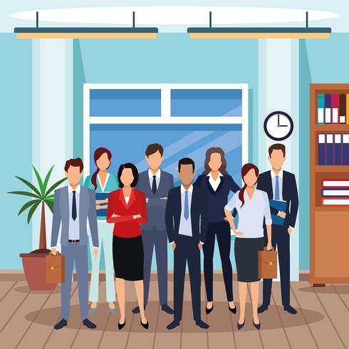 dibujos animados de hombres ejecutivos vector