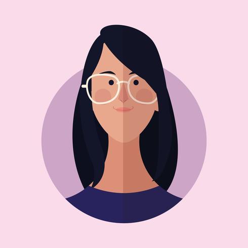caricatura de cara de mujer vector