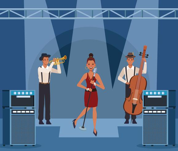 Music band cartoon vector