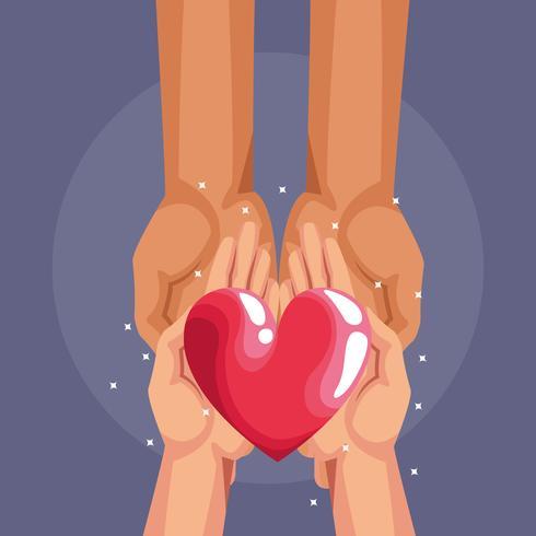 Dibujos animados de caridad donación de sangre vector