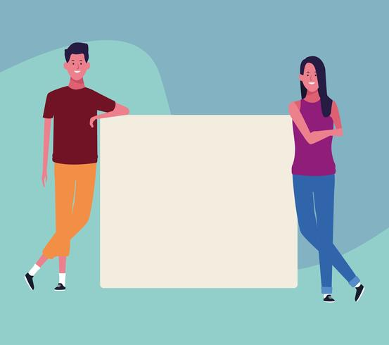 people with posters vector