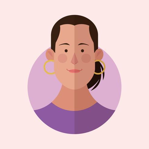 caricature de visage de femme