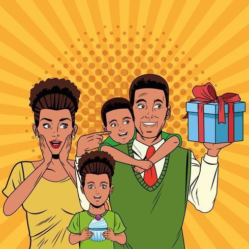 Dibujos animados de arte pop del día del padre vector