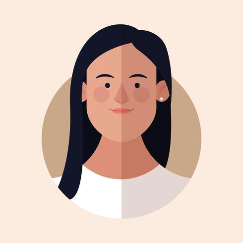 Frau Gesicht Cartoon