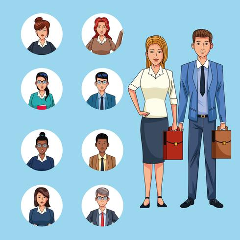Personajes de personas de negocios vector