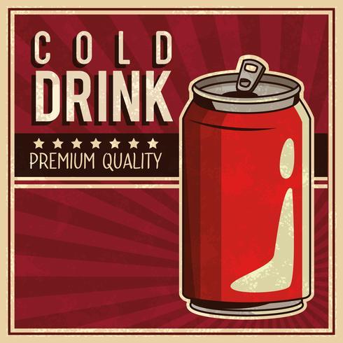 cartel de bebida vintage