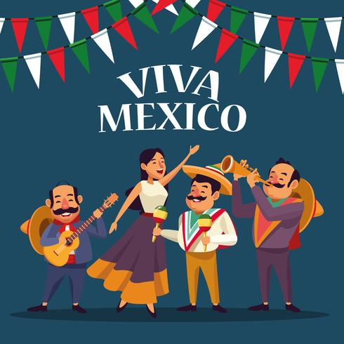 Dessins animés Viva mexico vecteur