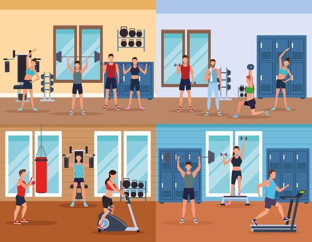 fitness maschile facendo esercizio fisico