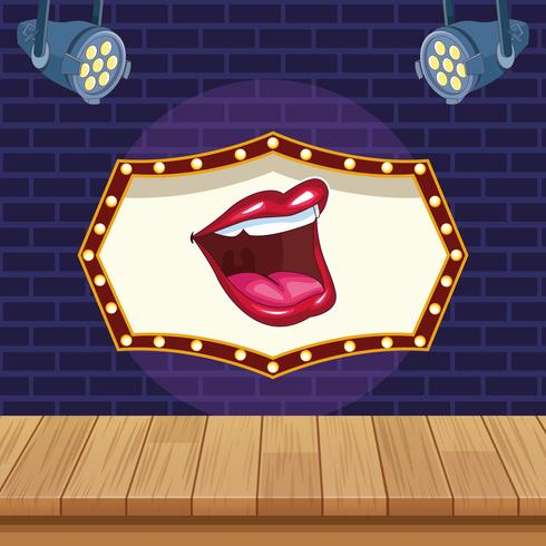 Entertainment show concept vector