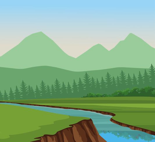 Wanderlust landscape scenery vector