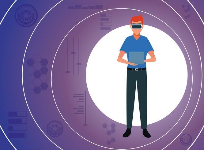 Virtual reality technology vector