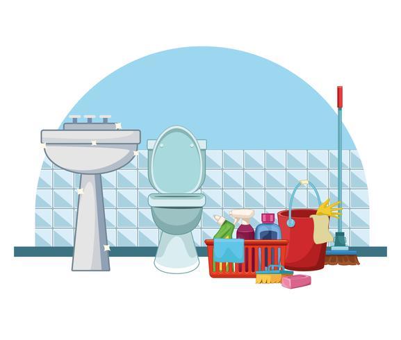 limpieza limpieza de dibujos animados vector