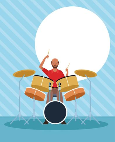 Musician artist cartoon vector