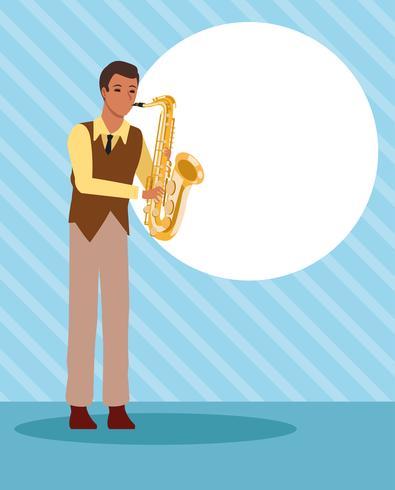 Dibujos animados de artista músico vector
