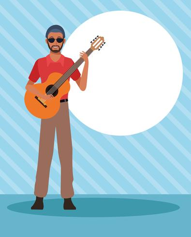 Musician artist cartoon vector