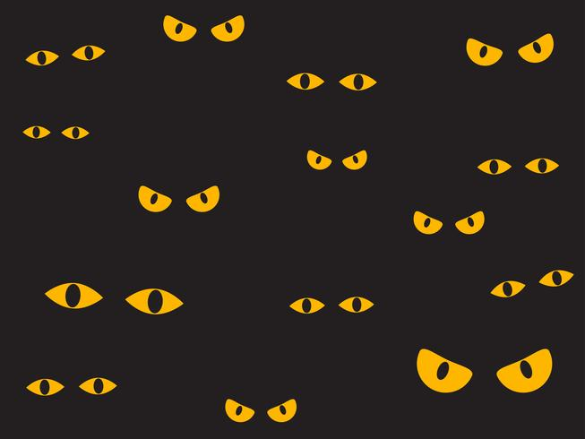Vector illustratie griezelige ogen op de donkere achtergrond - Halloween-achtergrond
