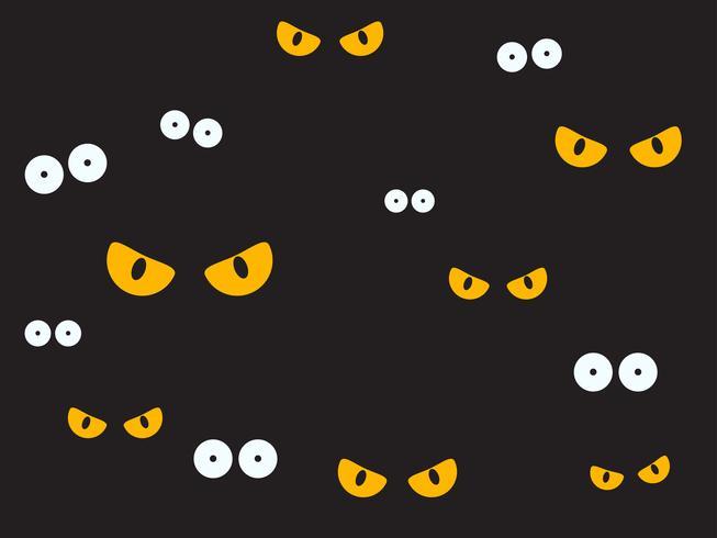 Ilustración vectorial ojos espeluznantes en el fondo oscuro - fondo de Halloween vector