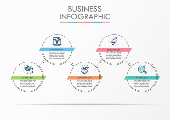 Business data visualization.  vector