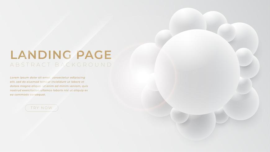 Minimala former och geometrisk bakgrund Landningssidesmall för webbdesign. Vektorillustration.