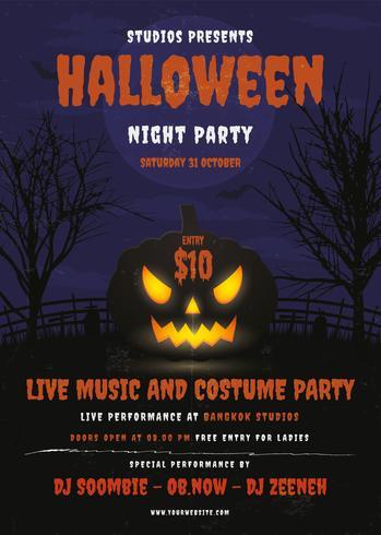 Halloween-Party-Plakat. Flyer Design
