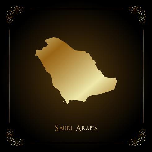 Saudi Arabia golden map.