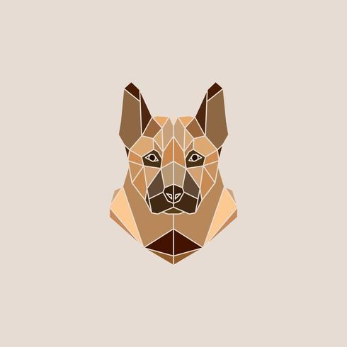 Illustration Vectorielle De Berger Allemand Chien Portrait