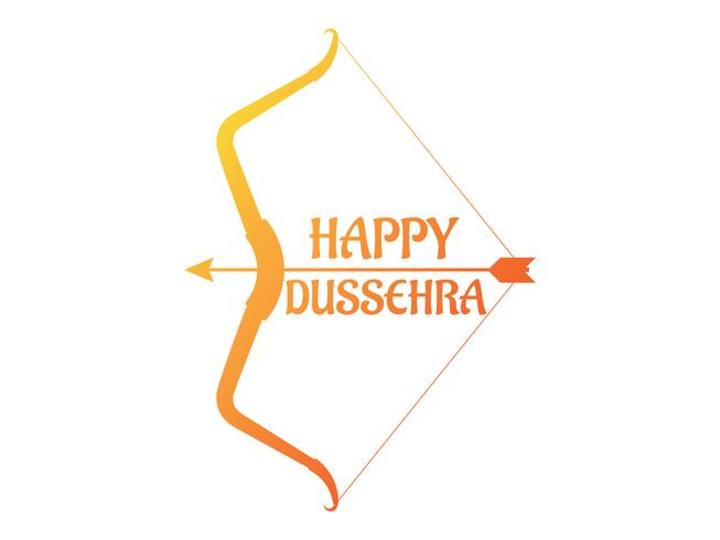 Happy Dussehra festival of India decoration with bow and arrow background