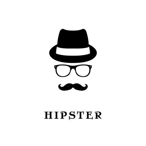 Mode silhuett hipster.