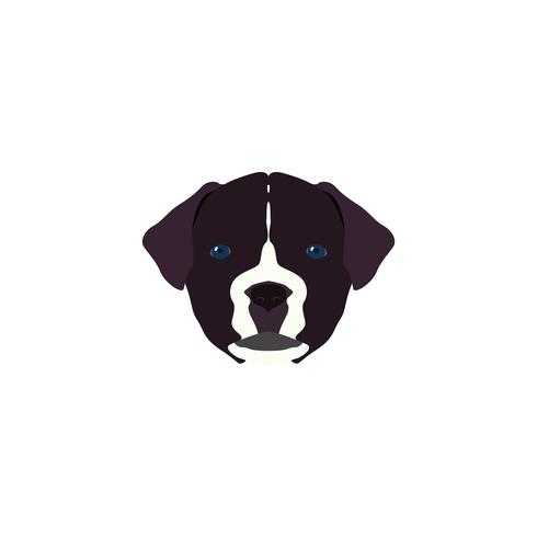 Illustration vectorielle Portrait de Mastiff.
