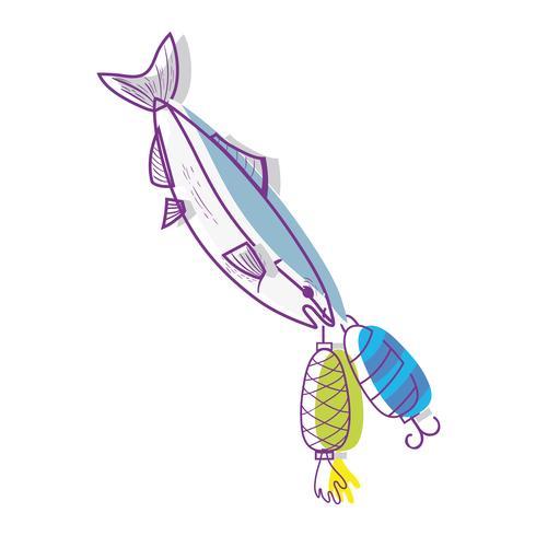 vissen bijten spinner object om het te vangen