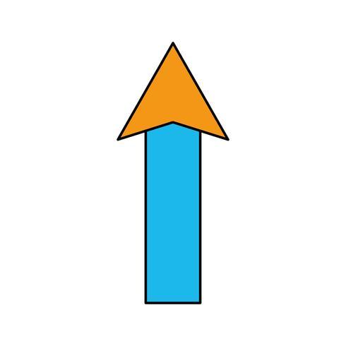 couleur web flèche en haut icône de chargement