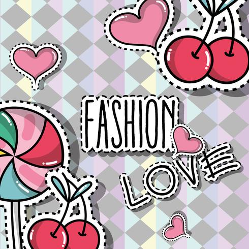 fashion patches trendy backgroun design