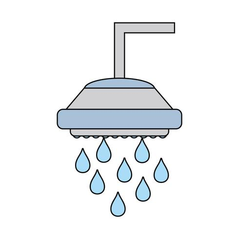 VVS-rördusch med vattendroppar