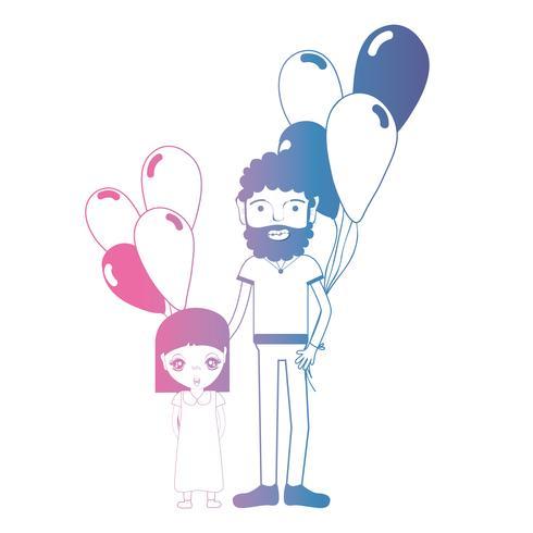 line far och dauther tillsammans med ballonger design