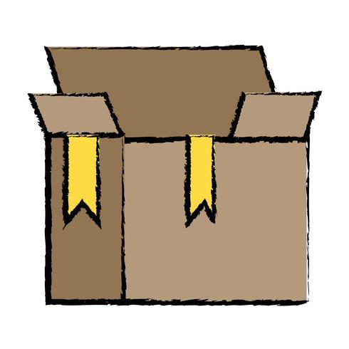 låda paket objekt öppen design