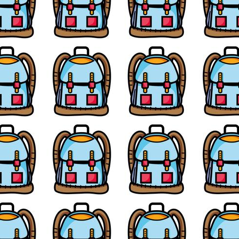 backpack object with pockets and closures design