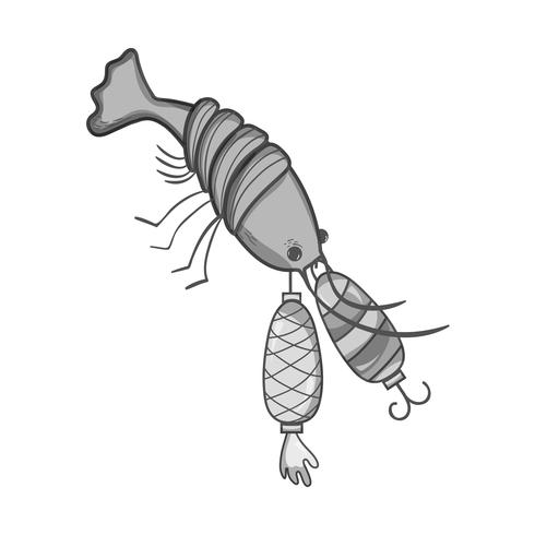 grayscale lobster bitting spinner object to catch it